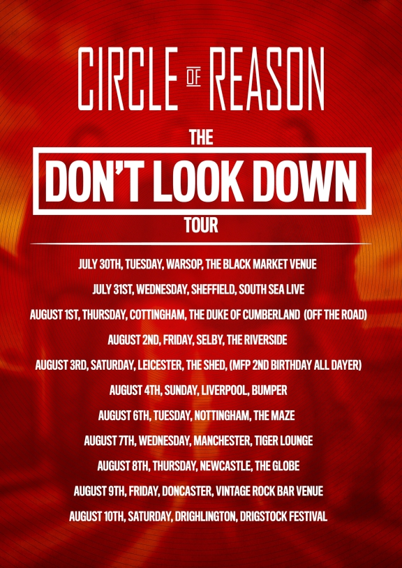 Circle Of Reason - Don't look down tour poster