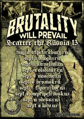 Brutality Will Prevail tour poster Russia